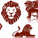 Lions Silhouettes set - GraphicRiver Item for Sale