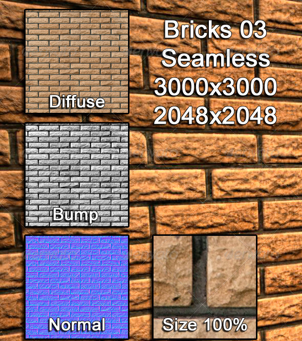 3DOcean Bricks 03 Tileable 3973230