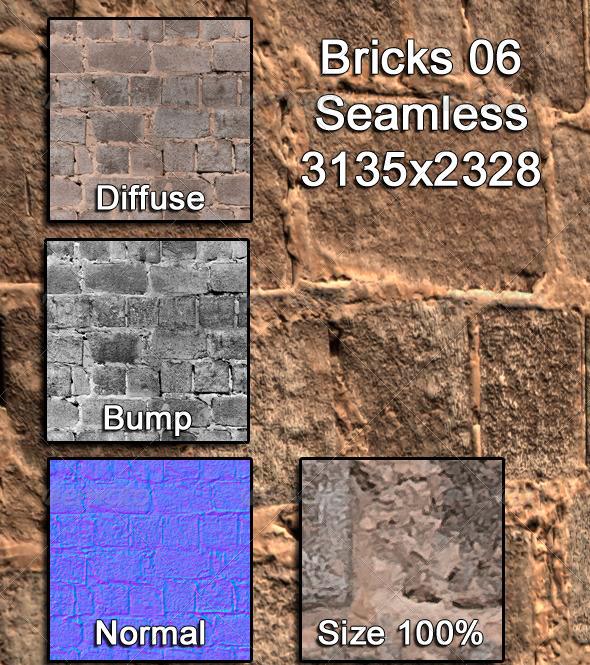 3DOcean Bricks 06 Tileable 3973409