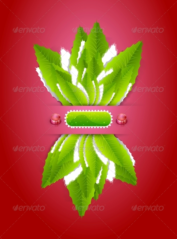 GraphicRiver Green leaves nature background 3997948