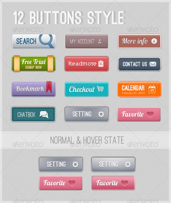 GraphicRiver 12 Web Buttons 3997974