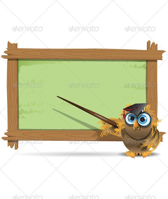 GraphicRiver owl teacher 3997992