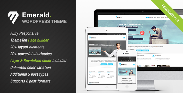 ThemeForest Emerald Modern and Elegant theme for Corporate 3990266