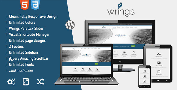 ThemeForest Wrings Fully Responsive Corporate Template 3951642