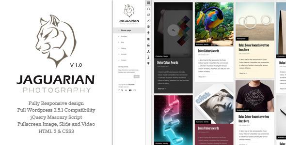 ThemeForest Jaguarian Responsive Portfolio WordPress Theme 3998244