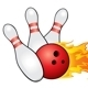 Bowling ball crashing into the pins - GraphicRiver Item for Sale