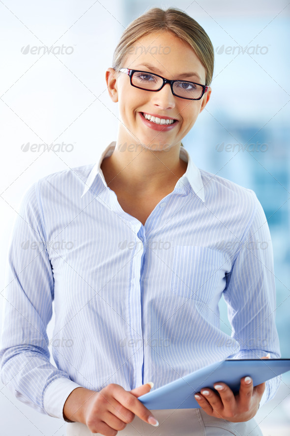 Smart secretary - Stock Photo - Images