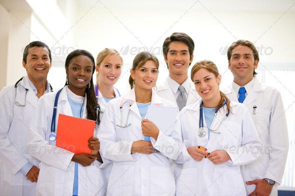 Hospital team - Stock Photo - Images