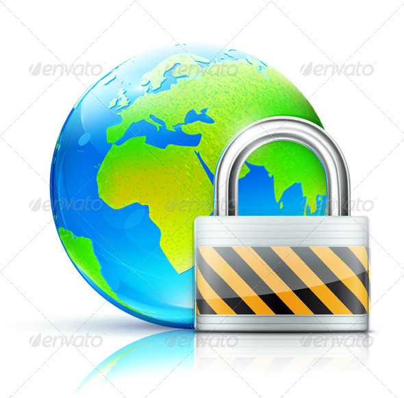 GraphicRiver global security concept 3998328