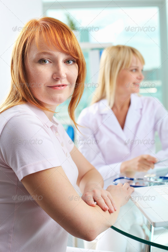 Pretty patient - Stock Photo - Images