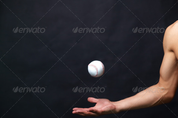 Playing with baseball ball - Stock Photo - Images