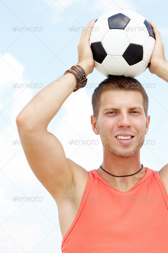 Man of football - Stock Photo - Images