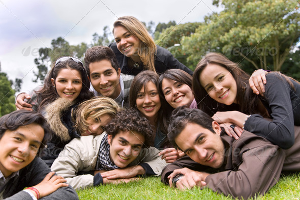 Happy group of people - Stock Photo - Images