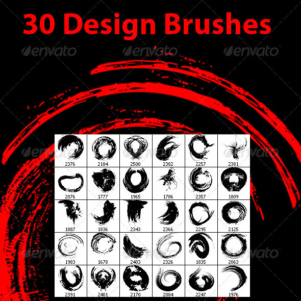 GraphicRiver 140 Brushes Pack 3914095