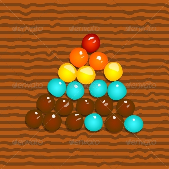 GraphicRiver Colored Candies in the Form of a Pyramid 3945649