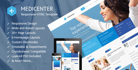 ThemeForest MediCenter Responsive Medical Health Template 4000598