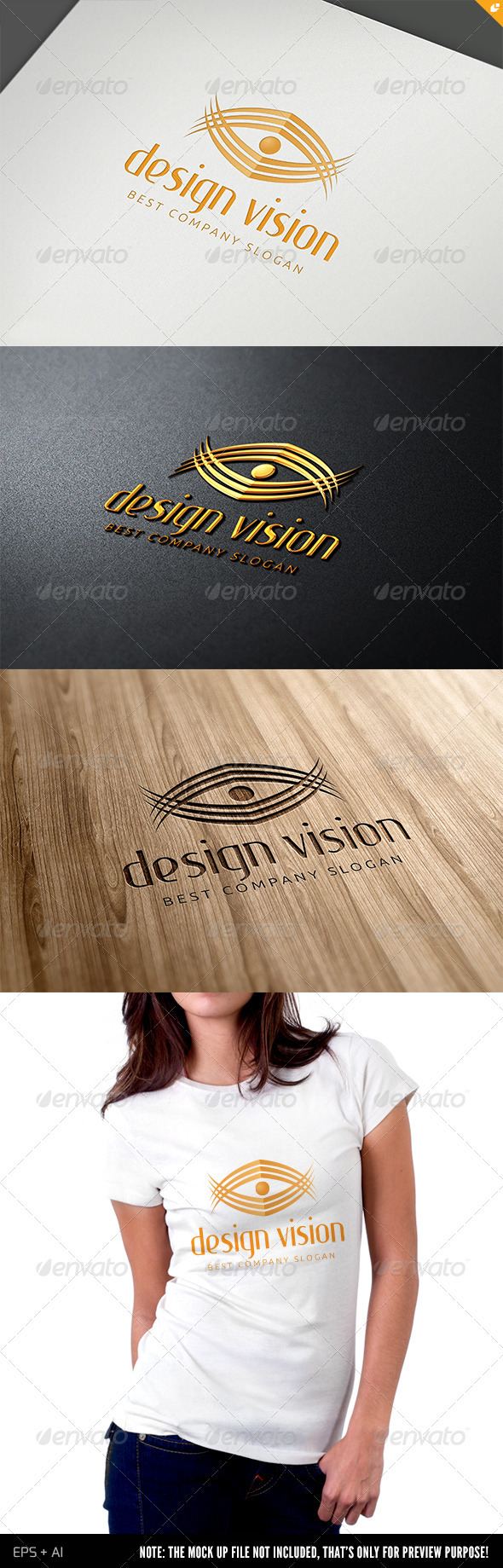 Media Design Vision Logo - Humans Logo Templates
