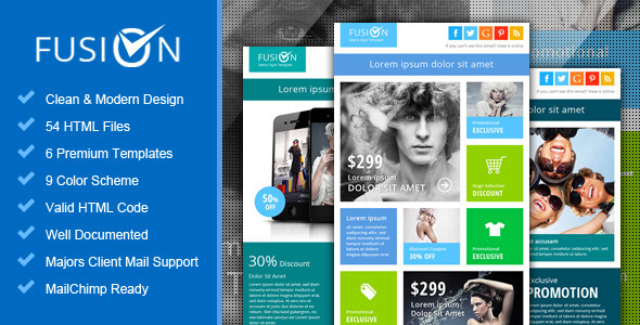 ThemeForest Fusion Metro Email Newsletter Template 4000633