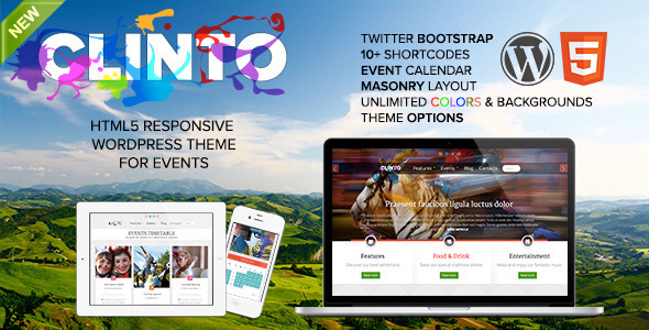 Clinto - HTML5 Responsive WordPress Theme for Events - Events Entertainment
