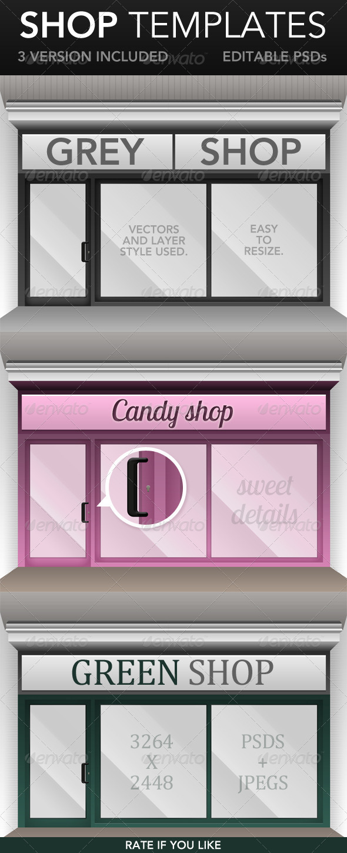 GraphicRiver Shop Window Templates 4001048