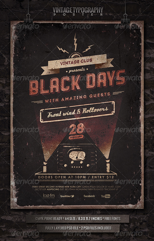 GraphicRiver Vintage Typography Poster 3905078