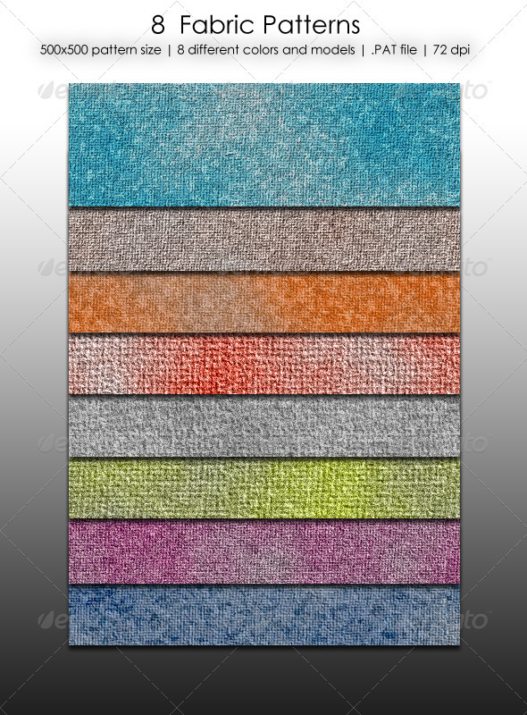 GraphicRiver 8 Seamless Fabric Patterns 3863718