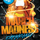 March Madness Basketball Party Flyer Template - GraphicRiver Item for Sale