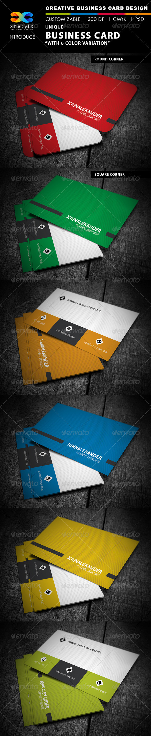 GraphicRiver Corporate Business Card 4001561