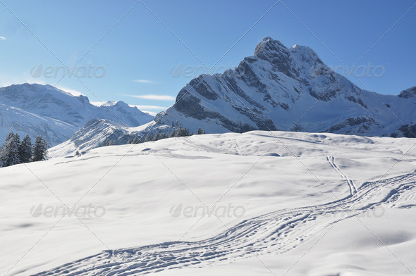PhotoDune Alpine scenery Braunwald Switzerland 4001867