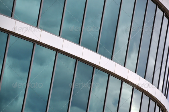 PhotoDune Glass wall of an office building 4001873