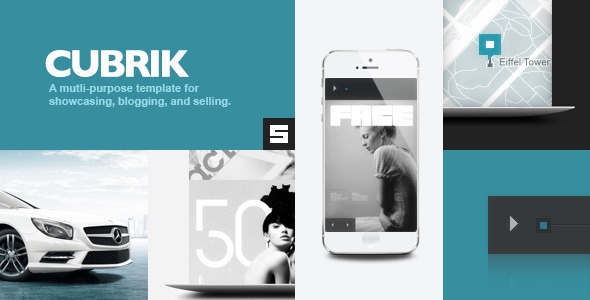 ThemeForest Cubrik Responsive Wordpress Theme 3561412