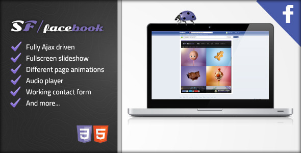 ThemeForest Star Flare Facebook Themplate 4002353