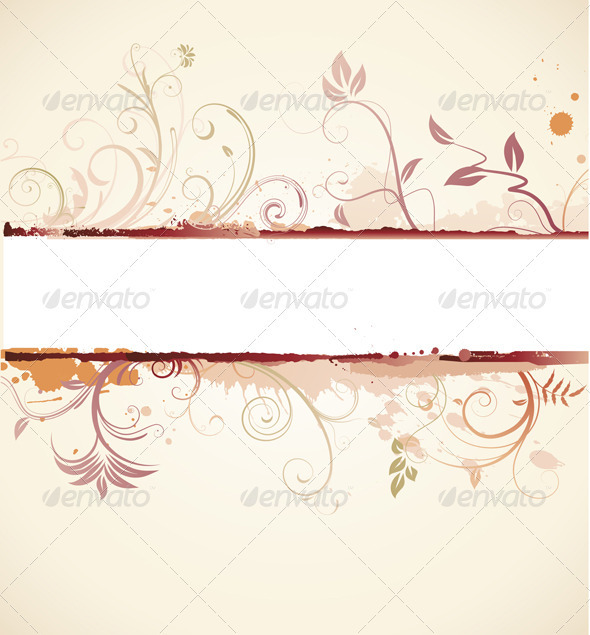 GraphicRiver Floral Decorative Banner 4002671