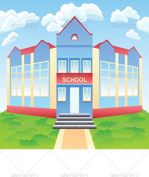 GraphicRiver Vector Modern School Building 4002703