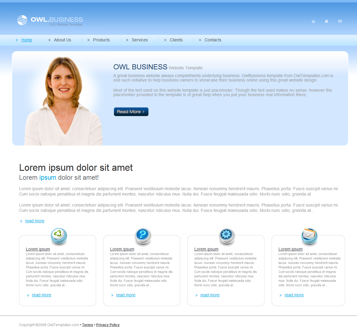 Clean Corporate Business Template