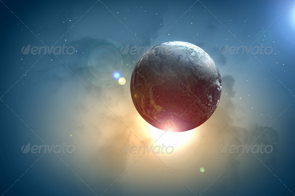 PhotoDune Image of earth planet in space 4004855