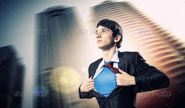 PhotoDune Young superhero businessman 4004867