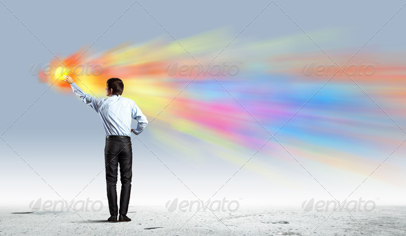 PhotoDune Man painting splashes 4004875