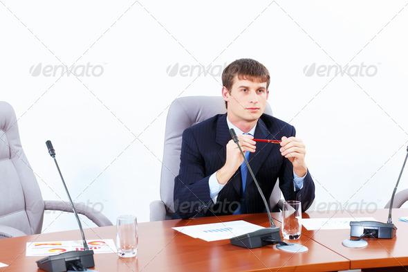 PhotoDune Businessman at meeting 4004893