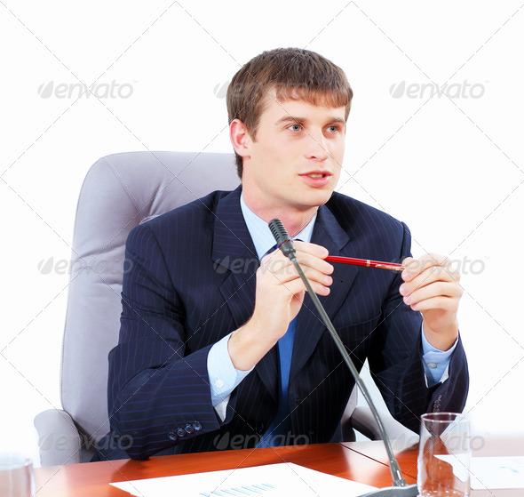 PhotoDune Businessman at meeting 4004894