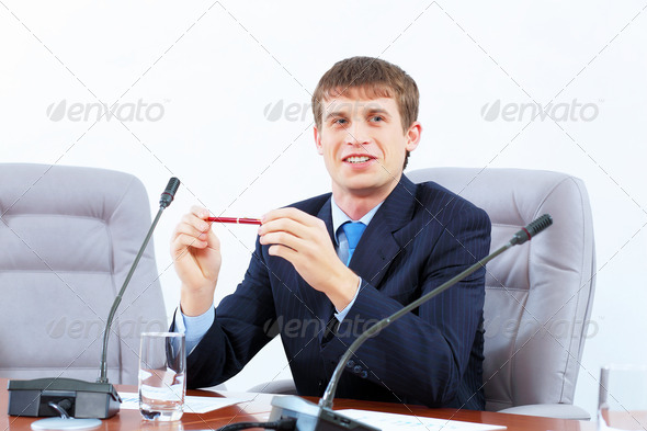 PhotoDune Businessman at meeting 4004895