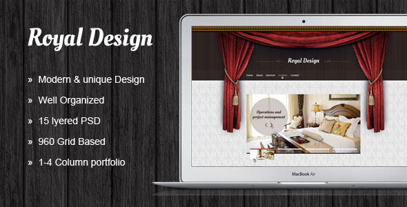 ThemeForest Royal Design Modern and Clean 3975711