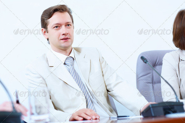 PhotoDune Businessman at meeting 4004901