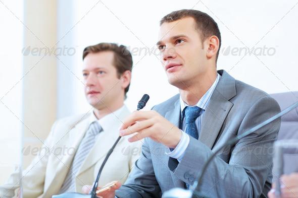 PhotoDune Two businessmen at meeting 4004906