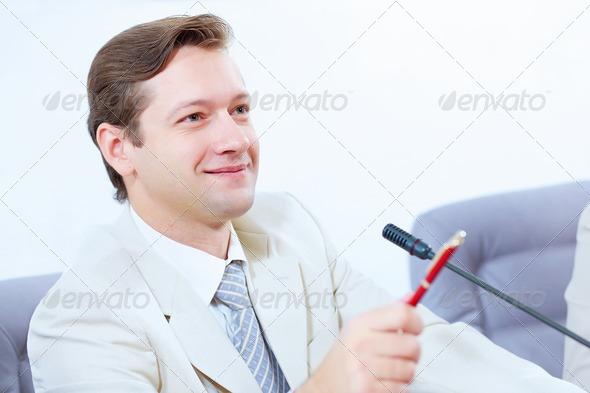 PhotoDune Businessman at meeting 4004911