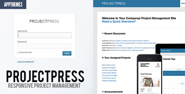 ThemeForest ProjectPress Project Management for Wordpress 3847539
