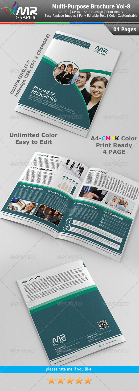 GraphicRiver Multipurpose Business Brochure Vol-8 4005177