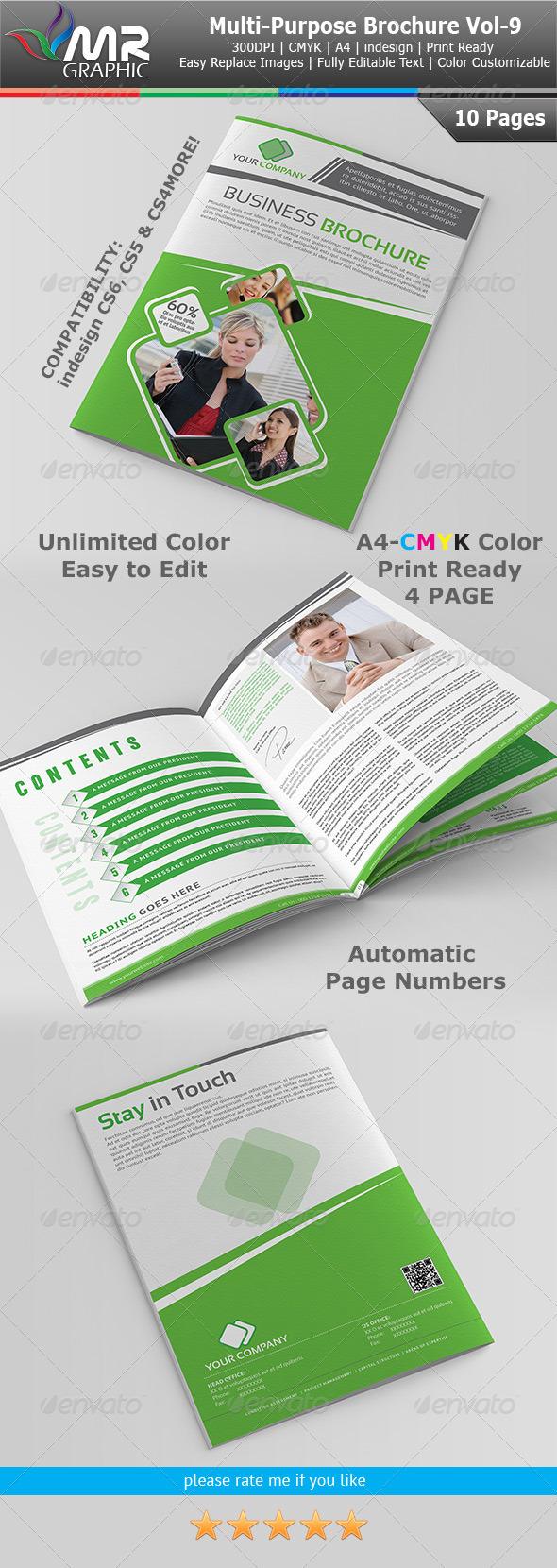 GraphicRiver Multipurpose Business Brochure Template Vol-9 4005197