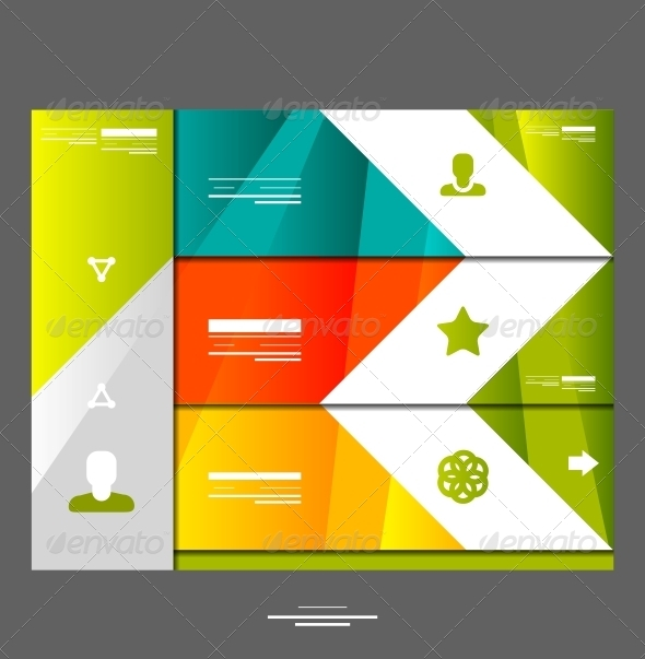 Infographic banner design elements