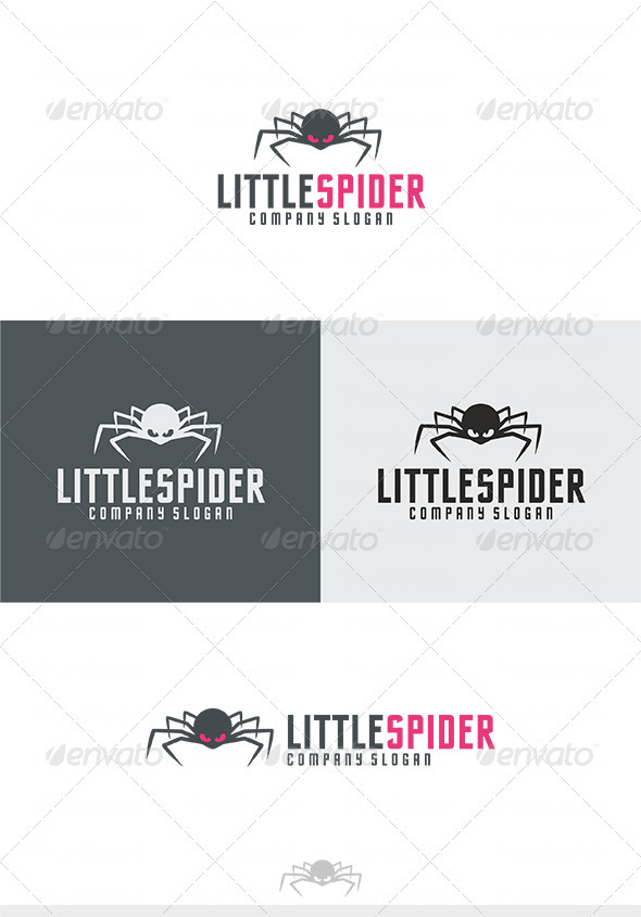 Little Spider Logo - Animals Logo Templates
